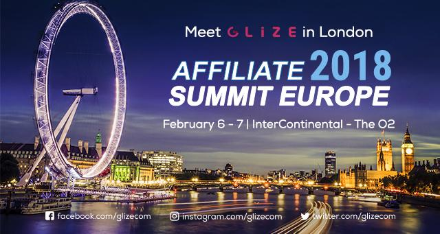 Glize | Events | Will You Be Meeting Us at Affiliate Summit Europe?